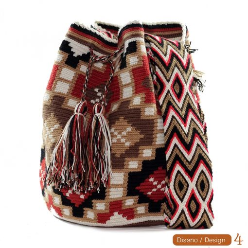 Red wayuu bag